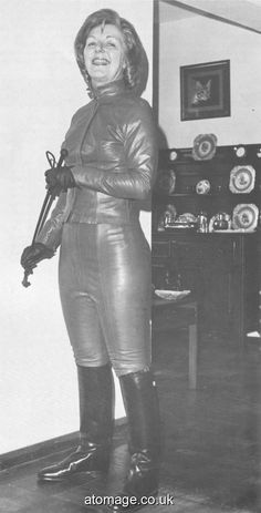 Helen Henley Atomage International Edition 6 Vintage Boots, Vintage Leather, 1960s Tv Shows, Leather Catsuit, Latex, Female Supremacy, Leather Riding Boots, Powerful Women, Leather Fashion