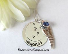 Pet Remembrance Necklace, loss of fur friend, puppy love, loss of pet gift