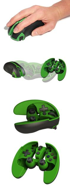 The 'Scarab Mouse/Gamepad' is a mouse that transforms into a fully functional gamepad with a pretty admirable level of ergonomic detailing... READ MORE at Yanko Design !