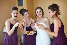 Have your bridesmaids eat something right after getting ready and before the wedding, also makes a great shot together