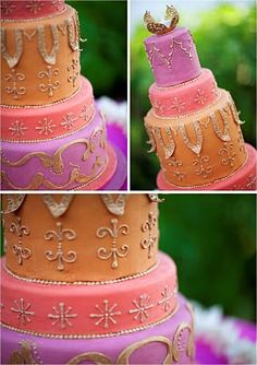 Moroccan inspired cake - love the pastel colors!