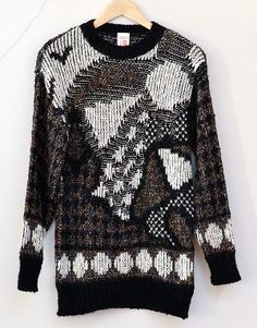 An original St. Michael (Marks & Spencer) 80s Wool Jumper - was this made in the dark?
