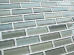 Blue Grey Green Glass Mosaic Tiles Backsplash/Bathroom