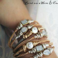 Items similar to Sparkly Silver Druzzy Guitar String Bangle. Wire Wrapped Jewelry, Wire Jewelry, Jewelry Crafts, Beaded Jewelry, Jewelry Bracelets, Handmade Jewelry, Bangles, Music Jewelry, Jewelry Art