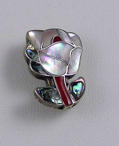P Sheyka Zuni Inlaid Silver Brooch by rhinestonesrock on Etsy, $58.00