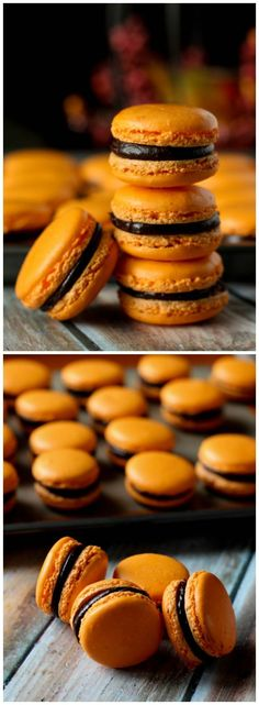 Orange and Dark Chocolate Macarons l www.stephinthyme.com Steph Kirkos // Steph in Thyme #glutenfree #dessert #macarons