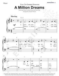 A Million Dreams Easy Piano Sheet Music Sheetmusic