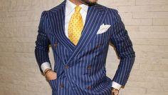 Ovesper New York Mens Neckties & Pocket Squares - Menswear Fashion - Yellow Tie | OTAA.COM