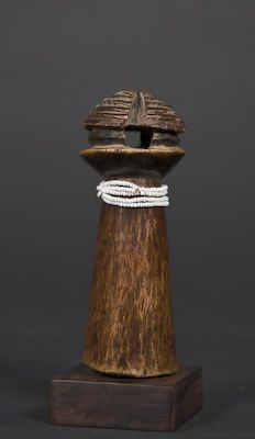 Tabwa / Luba Doll Democratic Republic of the Congo Carved wood, beads Early 20th century Height: 5 ½ in.