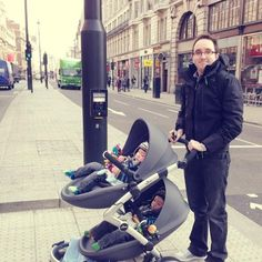Julie Shum's fiancé and twins out with their mima kobi in London! Thank you for sharing!