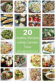 Not just for tuna salad! From pasta to stuffed veggies, get inspired to try something new and enjoy these 20 healthy recipes using canned tuna.