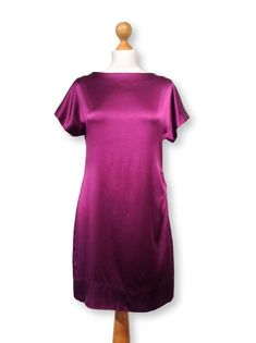 dd28d00da64a Purple Guest Dress / Party dress /Purple dress / violet dress/ A-Line dress  /Satin dress /Party Kleider /cocktail dress /Wedding guest dress