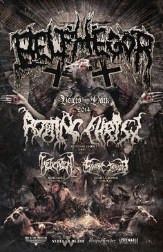 """NEWS: The black metal band, Belphegor, has announced a fall North American headliner, called the """"Voices From The Dark Tour"""" with Rotting Christ, Beheaded, and Svart Crown. This run of shows will be in support of their new album, Conjuring the Dead. You can check out the dates and details at http://digtb.us/VMAakV"""