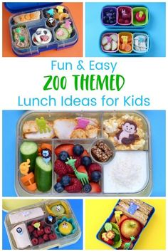 A Week of Easy Zoo Themed Lunch Ideas for Kids A week of quick and easy zoo themed packed lunches for kids – fun bento box ideas for school lunches Bento Box Lunch For Kids, Back To School Lunch Ideas, Lunch Box, Lunchbox Ideas, Food Art For Kids, Cooking With Kids, Easy Meals For Kids, Kids Meals, Easy Packed Lunch