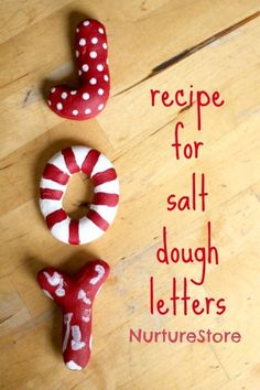 Joy! A Christmas salt dough recipe ~ great for making decorations.   NurtureStore :: inspiration for kids