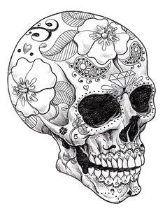 Printable Adult Coloring Pages. 63 Printable Adult Coloring Pages. 20 Gorgeous Free Printable Adult Coloring Pages Coloring Book Pages, Printable Coloring Pages, Coloring Pages For Adults, Colouring Sheets, Mandala Coloring Pages, Skull Color, Los Muertos Tattoo, Totenkopf Tattoos, Sugar Skull Art
