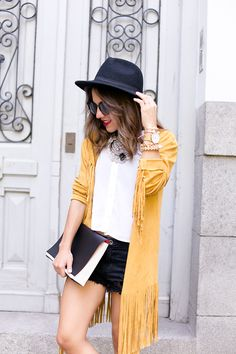 Mustard Suede Jacket