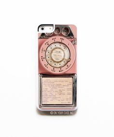 Non bisogna perdere neanche una chiamata dal vintage! | iPhone 5C Case. Vintage Pink Payphone - Case for iPhone 5C on Etsy, $17.99