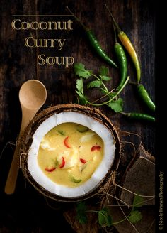 A super-quick and easy yet flavorful recipe for a coconut curry soup.
