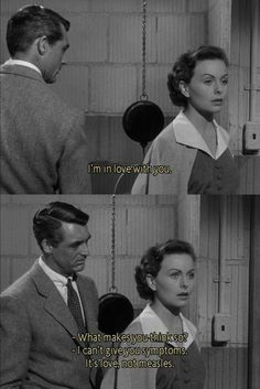 People will talk 1951 - Cary Grant & Jean Crane Old Movie Quotes, Classic Movie Quotes, Film Quotes, Classic Movies, Cinema Quotes, Famous Movie Quotes, Cary Grant, Classic Hollywood, Old Hollywood