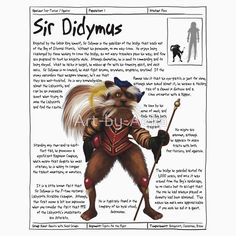 Practical Visitor's Guide to the Labyrinth - Sir Didymus