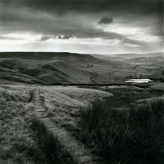 Fay Godwin: 'Paved Path above Lumbutts, near Todmorden, West Yorkshire' (from 'Remains of Elmet' by Ted Hughes and Fay Godwin, A Level Photography, Artistic Photography, White Photography, Amazing Photography, Digital Photography, Photography Ideas, Great Photographers, Landscape Photographers, Black And White Landscape