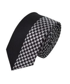 a67d4b911c3 Umo Lorenzo Black Checkered Slim Tie - Slim Tie