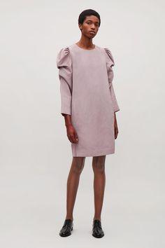 Картинки по запросу COS Women s Purple Structured-sleeve Dress Naisten  Muoti 21d0f528e2
