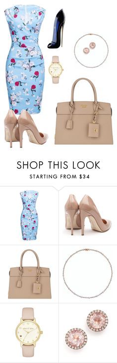 """""""Untitled #32"""" by reem-67m ❤ liked on Polyvore featuring WithChic, Rupert Sanderson, Prada, Kate Spade, Dana Rebecca Designs and Carolina Herrera"""