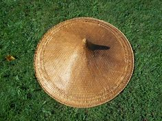 Antique Woven Asian Saipan Farmers Hat Early by TheEclecTiqueRaven