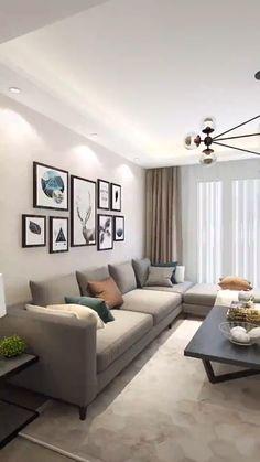 Living Room Tv Unit Designs, Home Design Living Room, Living Room Decor Cozy, Living Room Interior, Good Living Room Colors, Ikea Living Room, Dining Room, Classy Living Room, Living Room Modern