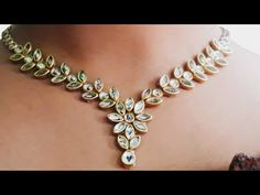 HOW TO MAKE PARTY WEAR KUNDAN NECKLACE AT HOME//DIY//HANDMADE JEWELLER//HOORIYA STYLE.. - YouTube