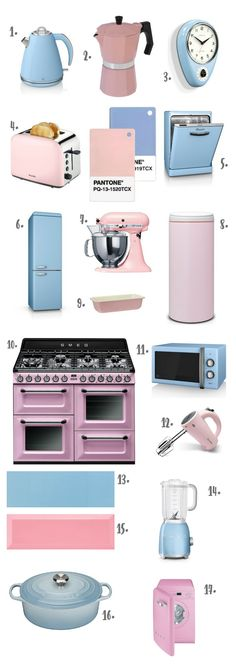 The Design Sheppard - Pantone Colour of the Year 2016 Rose Quartz & Serenity - Products for the Kitchen