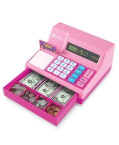 This award-winning cash register is the perfect addition to any pretend store! Encourage beginning math and calculator skills while providing lots of opportunities for imaginative play. Features a built-in solar calculator that helps familiarize children Toys For Girls, Kids Toys, Baby Girl Toys, Solar Calculator, Cash Register, Top Toys, Play To Learn, Imaginative Play, Pretend Play