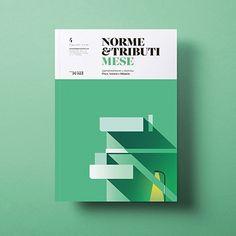 Norme & Tributi Mese - Graphic Design - Poster, Graphic, Retro, Green, White
