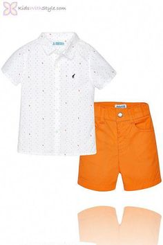 b236146d644e Dapper Baby Boy Orange Shorts and Shirt Set shop KidswithStyle.com   funbabyclothes  babyboyclothes