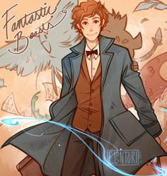 """You're an interesting man, Mr. Scamander. Just like your suitcase, I think there's much more to you than meets the eye."" by elentori art blog"