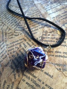 Dungeons and Dragons Dice Geek Nerd Pendant by AmbitiousWishes