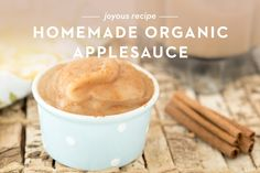 Homemade Organic Applesauce