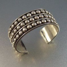 Vintage MEXICO STERLING CUFF Bracelet  High by LynnHislopJewels, $39.99