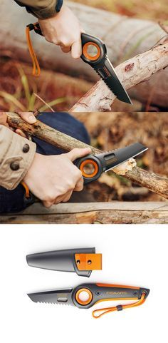 This 'Fiskars knife' concept is the ultimate outdoorsman's tool, whether it's sawing or cutting with it's double-edge blade, it's designed with interchangeable ergonomics that position the user's hand in a comfortable position for each task...READ MORE at Yanko Design !