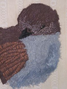 Stitched Bird for the Embroiderers Guild