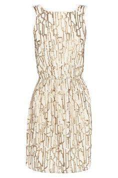 gold and silver sequined dress