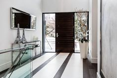 Front Door, Entrance, Contemporary House in Toronto, Canada