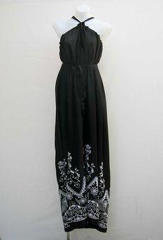 Long-Black-Maxi-Dress-1-1   Black Maxi Dress   Pinterest   Halter ...