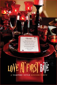 """Love at first bite"" - Now that is a theme only suited for a #VampireWedding #fangtastic"