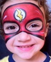 flash hero (face paint) by Carolina The Doodler, via Flickr