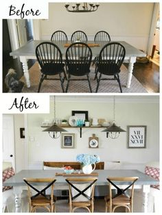 dining area makeover with Arhaus Furniture
