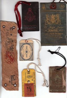 Vintage Hang Tags...!
