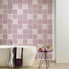 A modern twist on a classic design wall tile perfect for feature walls in bathrooms and kitchens Patterned Wall Tiles, Residential Interior Design, Ceramic Design, Wall Design, Kitchen Design, Modern, Inspiration, Feature Walls, Lilac